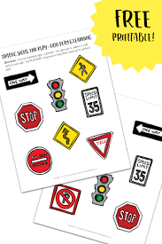 printable playdough recipes printable traffic signs for play doh towns play and learning