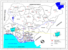 nigeria physical map map of nigeria showing osun state in the national setting source