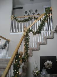Handrail Christmas Decorations Chic On A Shoestring Decorating How To Stain Stair Railings And