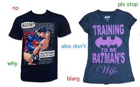 themed t shirts are dc s new comic themed t shirts sexist youbentmywookie