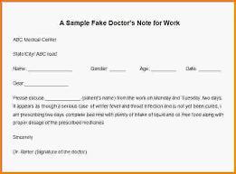 free fake doctors note letterhead template sample