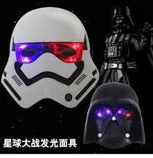 Led Halloween Costumes Star Wars Masks Darth Vader Mask Halloween Masks Led Festival