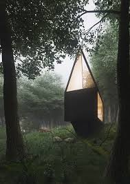 small cabin in the woods cabin in the forest tomek michalski design visualization