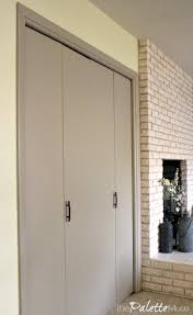 New Closet Doors Week 2 Decluttering And Painting Closet Doors The Palette Muse