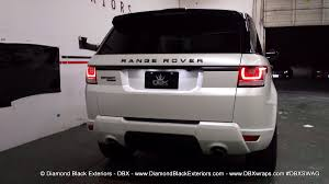 land rover sport white 2014 range rover sport wrapped in satin pearl white by dbx
