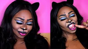 pop art makeup halloween cat makeup tutorial youtube