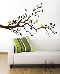 Wood Branches Home Decor Tree Branch Wall Decallove Birds On Branch With By Styleywalls