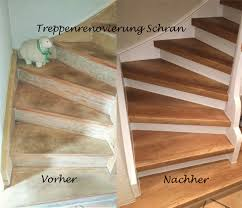 treppe sanieren treppenrenovierung mit laminatstufen stufendekor eiche vintage