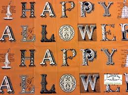 sew scary happy halloween large block letters diy banner panel