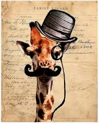 antique giraffe ring holder images Giraffe steampunk derby mustache monocle 1800s on print of jpg