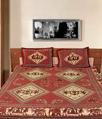 Cotton Single Bed Sheets Online India Jaipuri Sanganeri 100 Cotton Bedsheets Set Of 7 Free Bedsheet