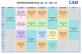 class schedule casi ceramics
