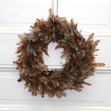 turkey feather wreath pheasant feather wreath