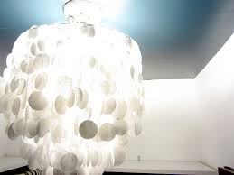 How To Make A Lamp Shade Chandelier How To Make A Wax Paper Capiz Shell Chandelier Decor Adventures