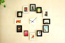 wall clock wall clock with photo frame online india wall clock