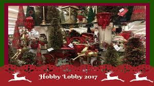 christmas decor shopping at hobby lobby pt 2 2017 youtube
