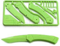 plastic knife klecker trigger folding plastic knife kit 3 2 blade green