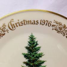 lenox tree douglas fir commemorative plate 1976