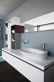 bathroom silver faucet direct on whaet wall plus white sink and