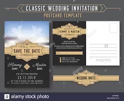 Vintage Wedding Invitation Card Classic Vintage Wedding Invitation Card Design Suitable For Both