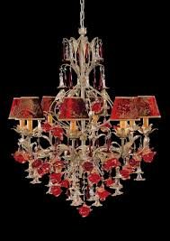 glass roses chandelier new chandelier with murano glass roses and velvet