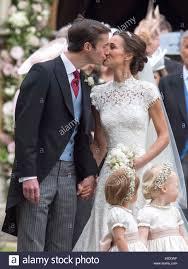 Englefield Berkshire Pippa Middleton And Her Husband James Matthews Leave St Mark U0027s