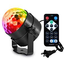 amazon com aomees disco ball party lights strobe light 3w sound