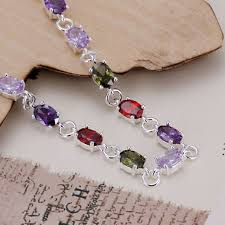 colored stone bracelet images H258 925 sterling silver bracelet 925 sterling silver fashion jpg