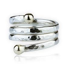 handmade designer jewellery spiral hammered silver ring lavan designer jewellery