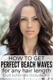 beach wave perm on short hair how to get perfect beach waves