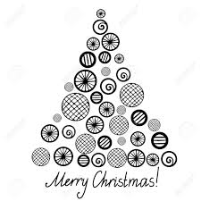christmas tree silhouette isolated royalty free cliparts vectors