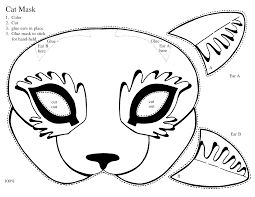 9 best images of cut out masks to color cat mask cut out