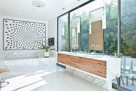Mid Century Modern BathroomKitchen Sink With Drainboard Light - Mid century bathroom vanity light