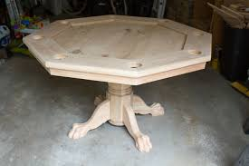 how to make a poker table octagon poker table part 5 finishing it up brian nelson