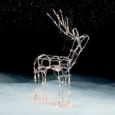 outdoor christmas reindeer decorations lighted sacharoff decoration