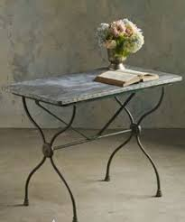 Zinc Bistro Table Bistro Table With Oval White Marble Top 1920s