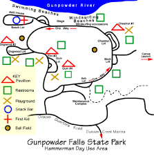 Maryland State Parks Map by Gunpowder Falls State Park Maplets