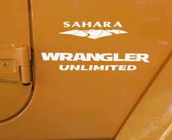 jeep wrangler sahara logo jeep wrangler unlimited sahara replacement stock logo full set