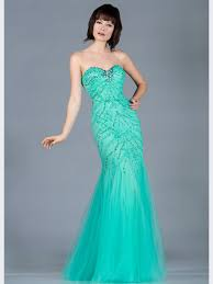mint sequin and bead mermaid prom dress sung boutique l a