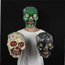 Day Of The Dead Mask Aliexpress Com Buy Scary Halloween Skull Mask Day Of The Dead Of