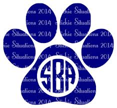 monogram car decal paw print monogram car decal stickie situations online store
