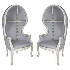 Outdoor Canopy Chair Pair Of Gustavian Style Canopy Chairs With Elegant Hooded Design