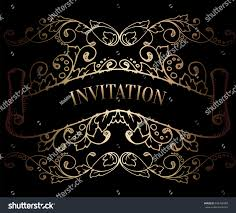 abstract background antique luxury black gold stock vector