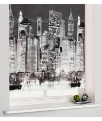 buy 3ft new york skyline roller blind black at argos co uk