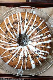 pumpkin chocolate chip bundt cake the emotional baker