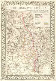 Orlando Urban Trail Map by The Lonesome Dove Comanche Moon Great Trails Map 20