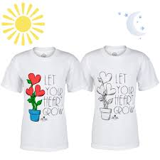 sunlight color changing youth t shirt shop heart