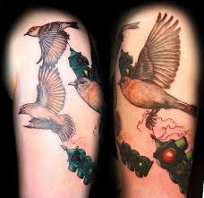 fly away stoplight birds tattoo by christel perkins tattoonow