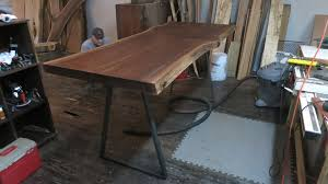 Wood Table With Metal Legs Walnut Dining Tables Custommade Com