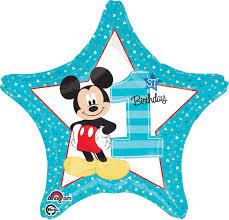mickey mouse 1st birthday disney mickey mouse 1st birthday foil balloon birthdayexpress